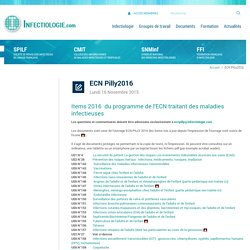 ECN Pilly2016 - Accueil - spilf - infectiologie