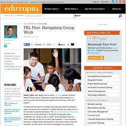 PBL Pilot: Navigating Group Work