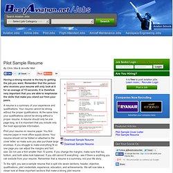 Pilot Sample Cover Letter