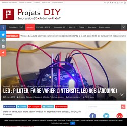 LED : piloter, faire varier l'intensité, LED RGB (Arduino)