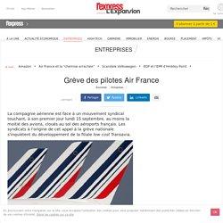Grève Air France pilotes avions aéroports annulations vols