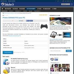 Pilotes SIXAXIS PS3 pour PC