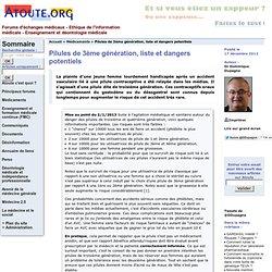 Pilules de 3ème génération, liste et dangers potentiels