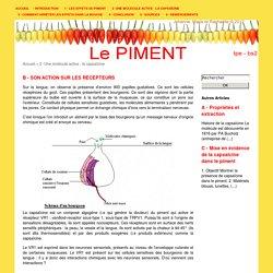 [LE PIMENT - TPE - BS2] - B - Son action sur les récepteurs
