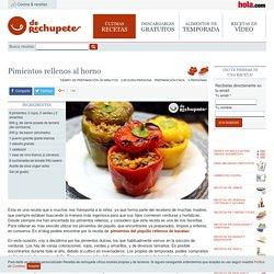Pimientos rellenos al horno - Recetasderechupete.com