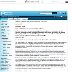 Pimp my Stick, Themen-Special im heise Software-Verzeichnis