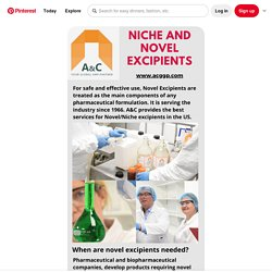 Pin on Novel Excipients
