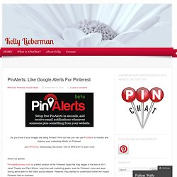 PinAlerts: Like Google Alerts For Pinterest