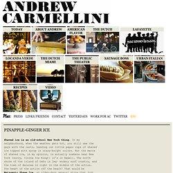 Pinapple-Ginger Ice – Andrew Carmellini