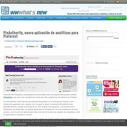 PinAuthority, nueva aplicación de analíticas para Pinterest
