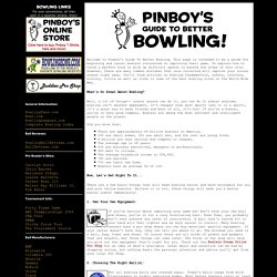 Pinboy's Guide To Better Bowling