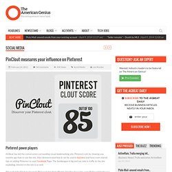 PinClout measures your influence on Pinterest