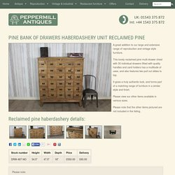 PINE BANK OF DRAWERS HABERDASHERY UNIT