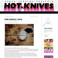 Pine Needle Juice