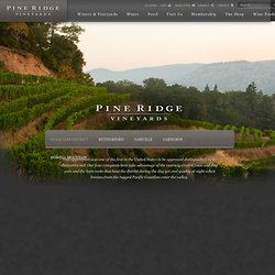 Welcome to Pine Ridge Vineyards - Napa Valley