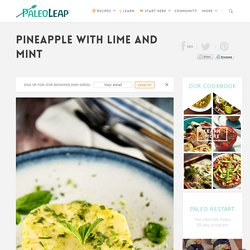 Pineapple with Lime and Mint