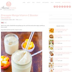 Pineapple Mango Vitamin C Booster Smoothie