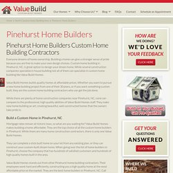 Pinehurst Home Builders Custom Home Building Contractors