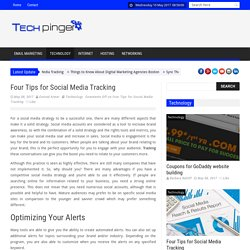 Tech Pinger – Four Tips for Social Media Tracking
