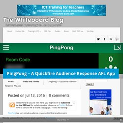 PingPong - A Quickfire Audience Response AFL App