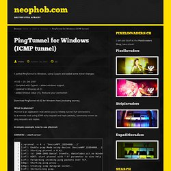 PingTunnel for Windows (ICMP tunnel) - neophob