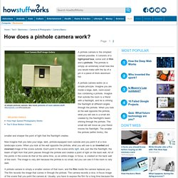 How does a pinhole camera work?