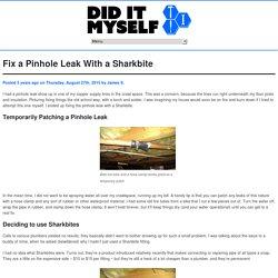 Fix a Pinhole Leak With a Sharkbite - Did It Myself