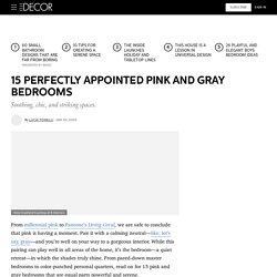 15 Pink and Gray Bedroom Ideas - Decorating With Pink and Gray