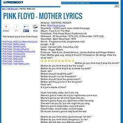 Pink Floyd - Mother Lyrics