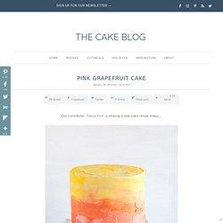 Pink Grapefruit Cake