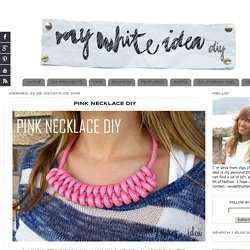 PINK NECKLACE DIY