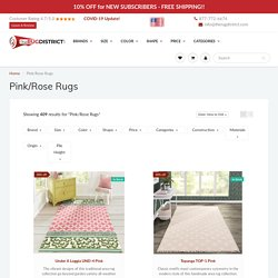 Buy Pink/Rose Rugs Online at Discounted Prices