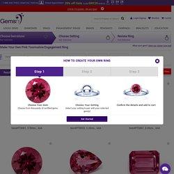 Pink Tourmaline Engagement Rings