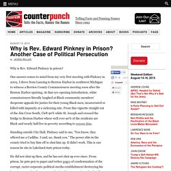 Why is Rev. Edward Pinkney in Prison? Another Case of Political Persecution