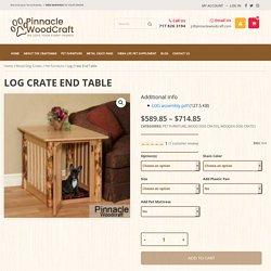Log Crate End Table