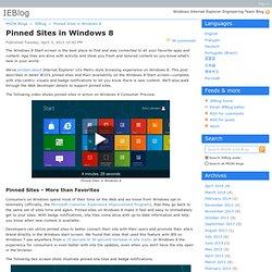 Pinned Sites in Windows 8 - IEBlog