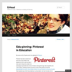 Edu-pinning: Pinterest in Education « ErHead