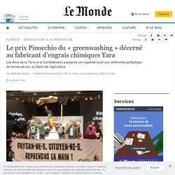 Le prix Pinocchiodu «greenwashing» décerné au fabricant d'engrais chimiques Yara