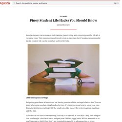 Pinoy Student Life Hacks You Should Know - techyed - Quora