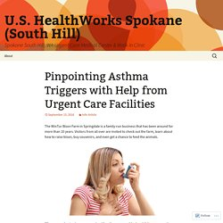 Pinpointing Asthma Triggers with Help from Urgent Care Facilities