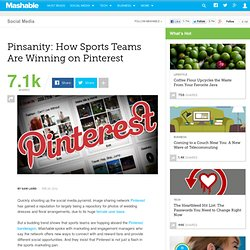 Pinsanity: How Sports Teams Are Winning on Pinterest