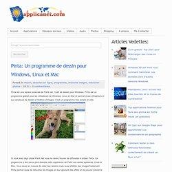 Pinta: Un programme de dessin pour Windows, Linux et Mac
