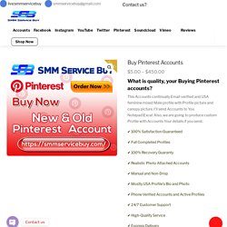 Buy real Pinterest Accounts Recovery Guaranty