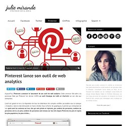 Pinterest lance son outil de web analytics