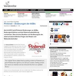 Pinterest - Änderungen der AGBs