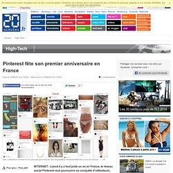 Pinterest fête son premier anniversaire en France
