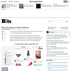 Pinterest Appeals to Online Collectors