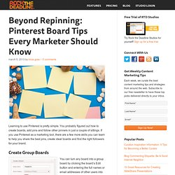Pinterest Board Tips for Businesses