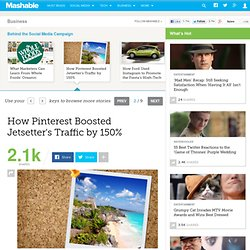 How Pinterest Boosted Jetsetter's Traffic by 150%