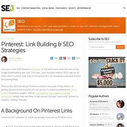 Pinterest: Link Building & SEO Strategies